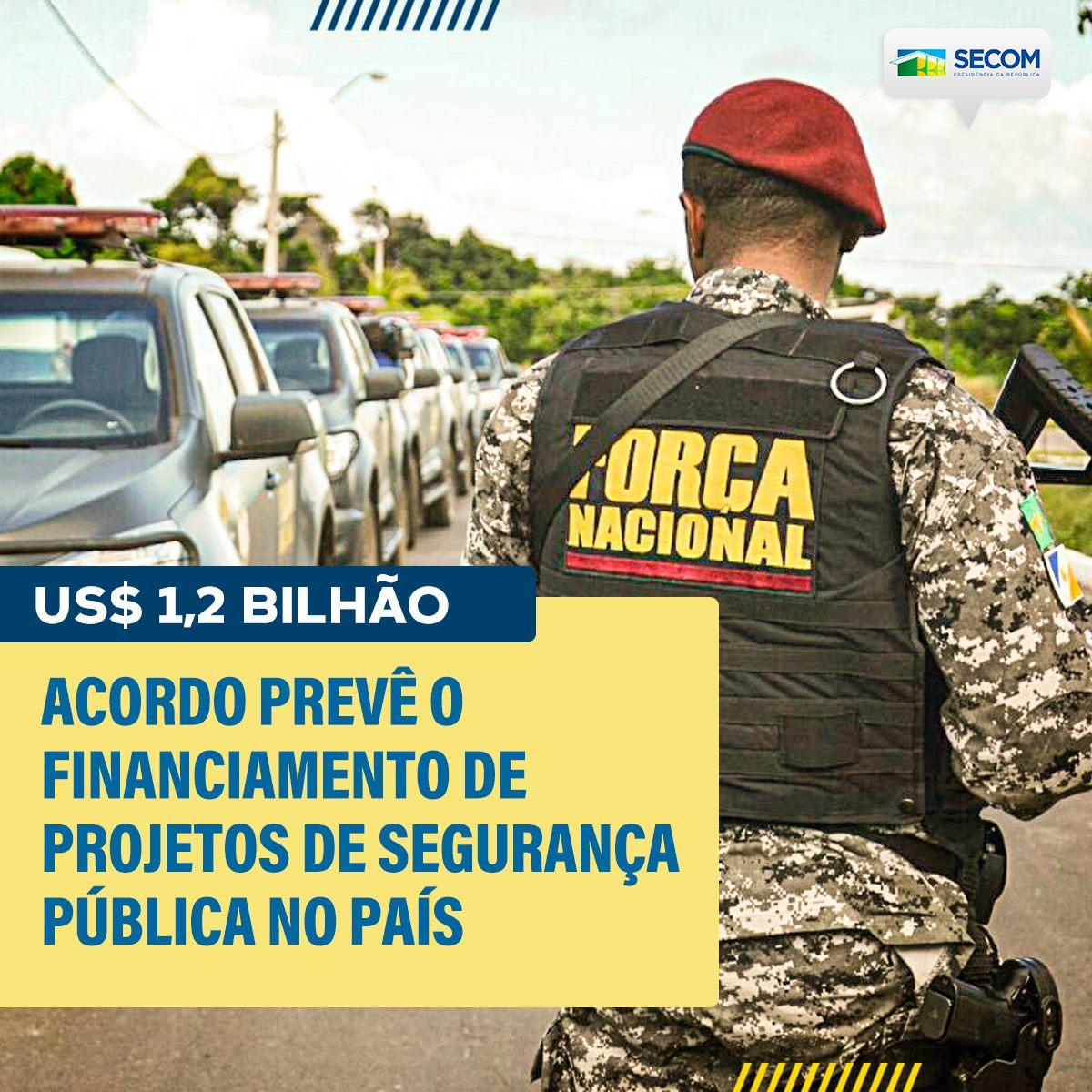 Financiamento de U$1,2 bilhão para projetos de segurança pública